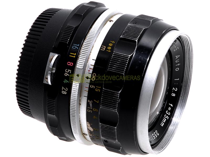 Nikon obiettivo Nikkor S Auto 35mm. f2,8 per fotocamere reflex con baionetta F