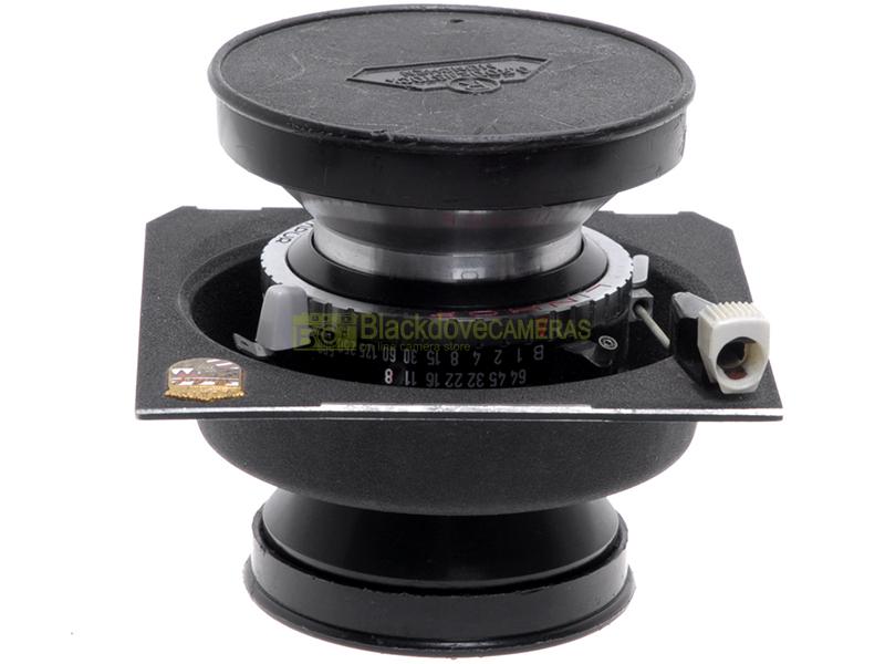 Schneider Super Angulon 90mm f8 otturatore Syncro Compur piastra Linhof Technika
