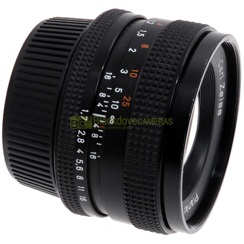 Obiettivo Carl Zeiss Planar T 50mm. f1,7 per fotocamere innesto Contax e Yashica