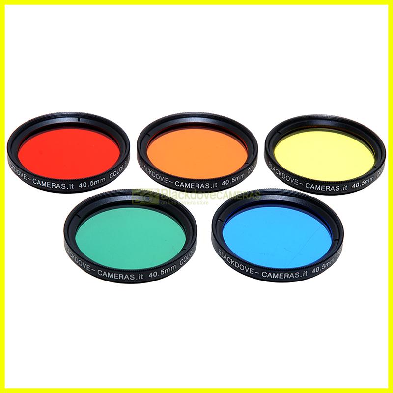 40,5mm kit 5 filtri colorati Blackdove-cameras Rosso Arancione Giallo Verde Blu.