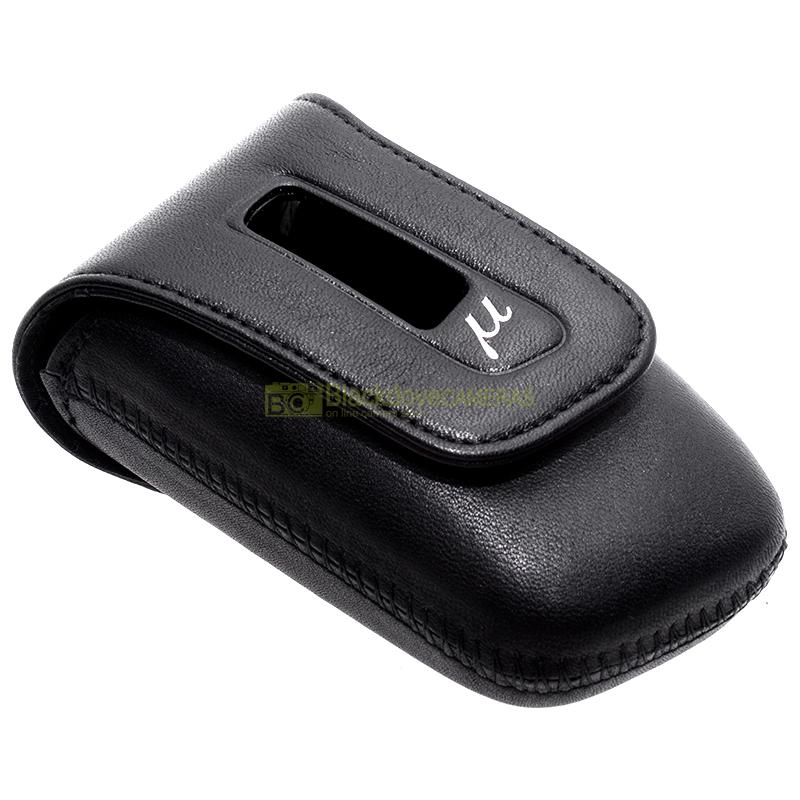 Olympus U-Mini leather case custodia per fotocamere digitali compatte Mju Mini.