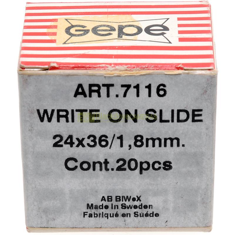 Telaietti diapositive Gepe Write-on Confezione da 20 telai 1,8mm. Dia slides.