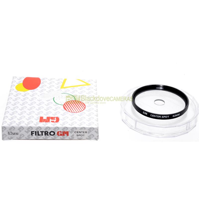 62mm. filtro creativo Center Spot per obiettivi M62. Filter for camera lens