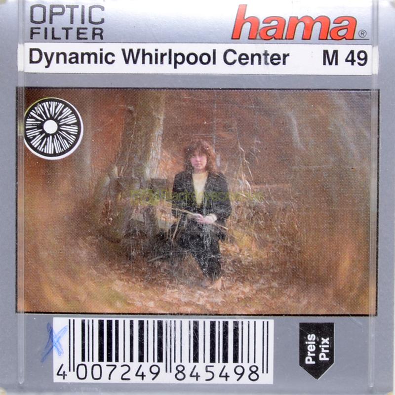 49mm. filtro creativo Whirlpool Center per obiettivi M49.