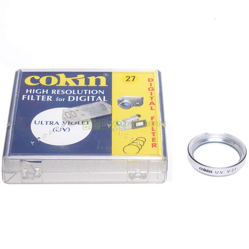 27mm. filtro UV Cokin per obiettivi M27. Ultra Violet filter for camera lens.