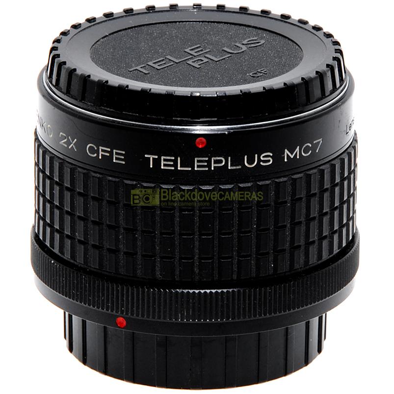 Moltiplicatore di focale 2x Kenko Teleplus MC7 per fotocamere Canon FD e FL
