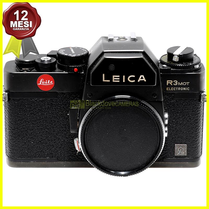 Leica R3 Mot Electronic fotocamera a pellicola manual focus. Leitz Leica R-3.