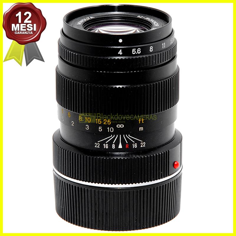 Minolta M Rokkor 90mm f4 innesto Leica M per M6 M7 M8 M9 M10 Monochrome ecc...