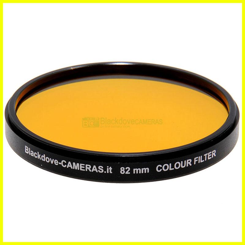 82mm Giallo scuro Blackdove-cameras a vite M82 Yellow lens filter. x Bianco nero