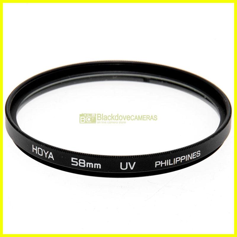 58mm Filtro UV Ultra violetto HOYA a vite M58 Ultraviolet lens filter.