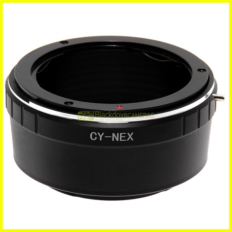 Adapter per obiettivi Contax Yashica su fotocamere Sony E Mount Nex-Alpha.