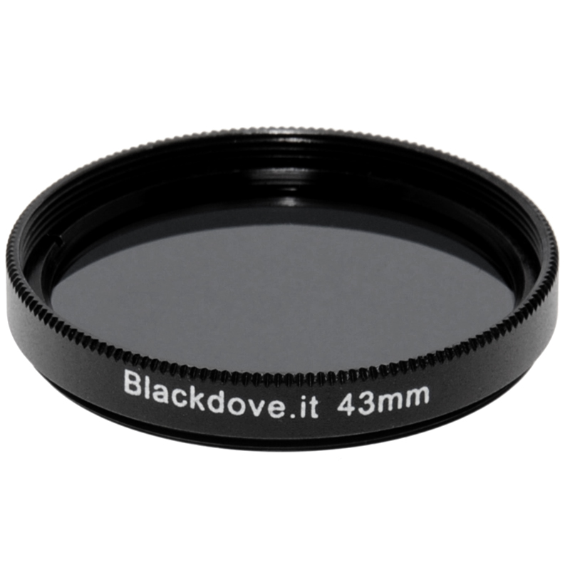 43mm. filtro Neutral density ND8 (+3 stops) Blackdove-cameras per obiettivi M43