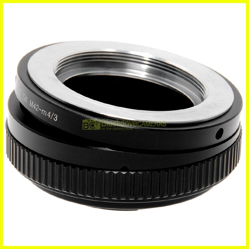 Adattatore TILT basculante per obiettivi M42 su fotocamere digitali Micro 4/3