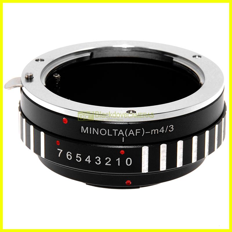 Adattatore per obiettivi Minolta AF Sony-A su fotocamere Micro 4/3. Adapter