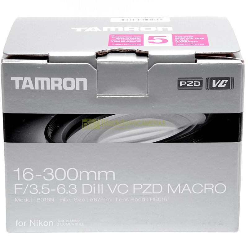 Tamron 16/300 mm f3.5-6.3 Di VC II PZD per Nikon
