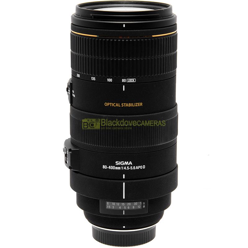 Sigma 80-400 mm f4,5-5,6 OS per Nikon