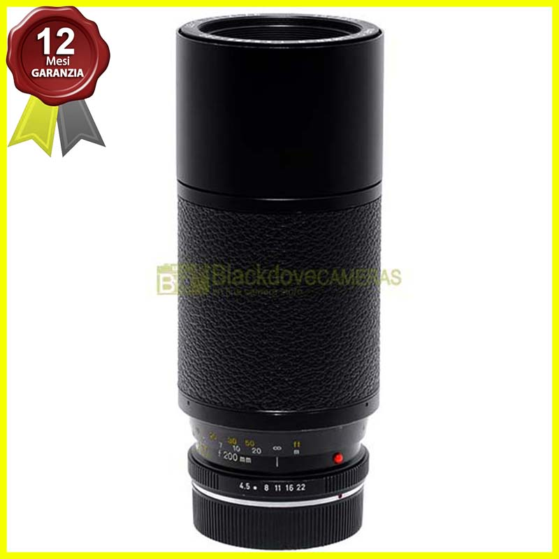 Leica obiettivo zoom Vario Elmar R 75/200mm f4,5 Made in Japan per fotocamere R.
