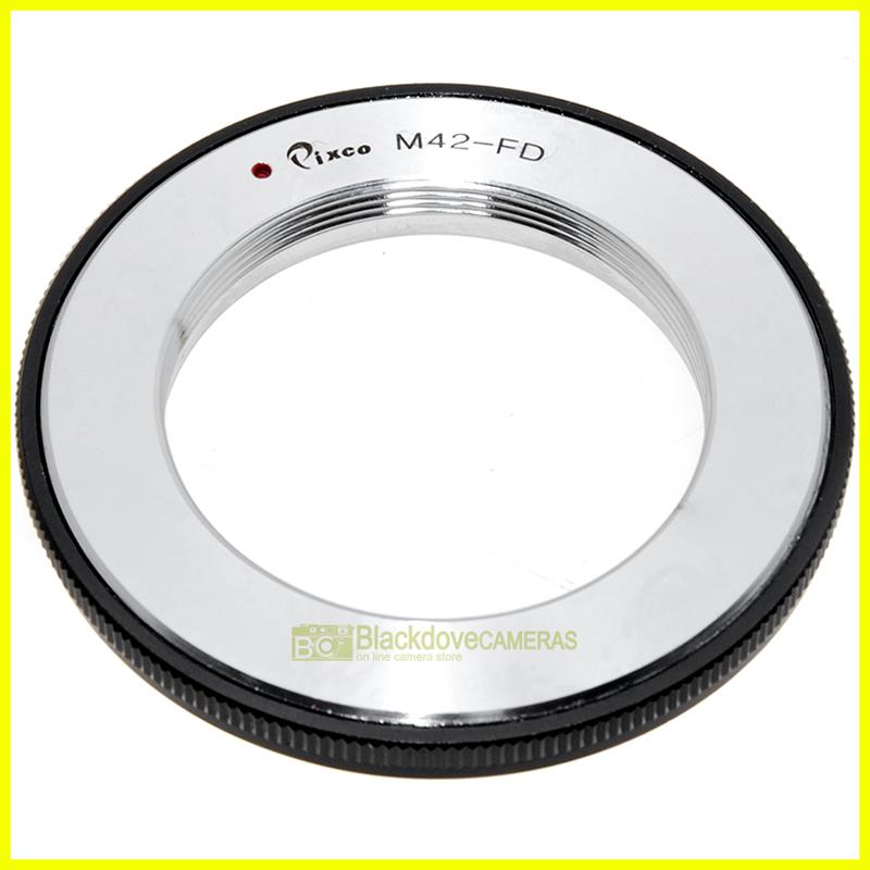 Anello adapter per obiettivi a vite M42 su fotocamere Canon FD