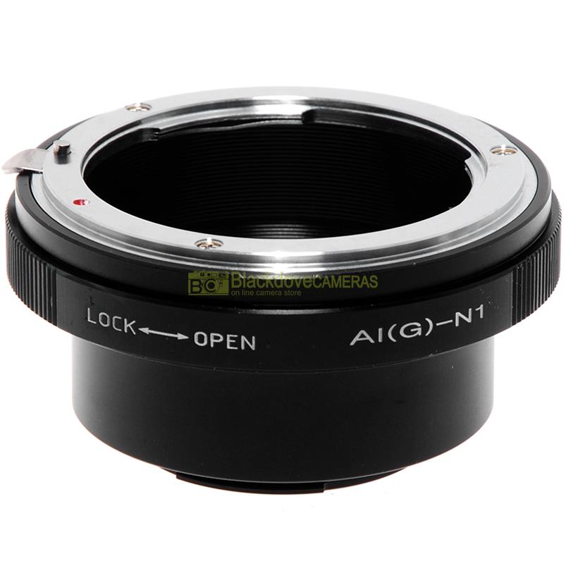 Adattatore per obiettivi Nikon G su fotocamere Nikon 1 Anello adapter con ghiera