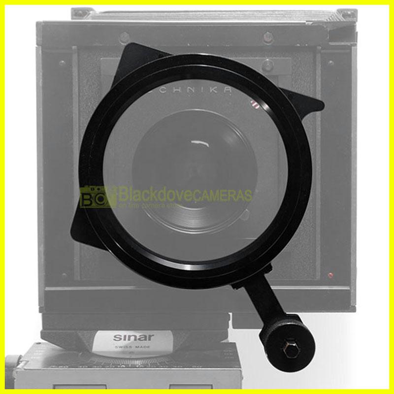 Sinar portafiltri per banchi ottici con innesto 105mm. con anello 105mm.