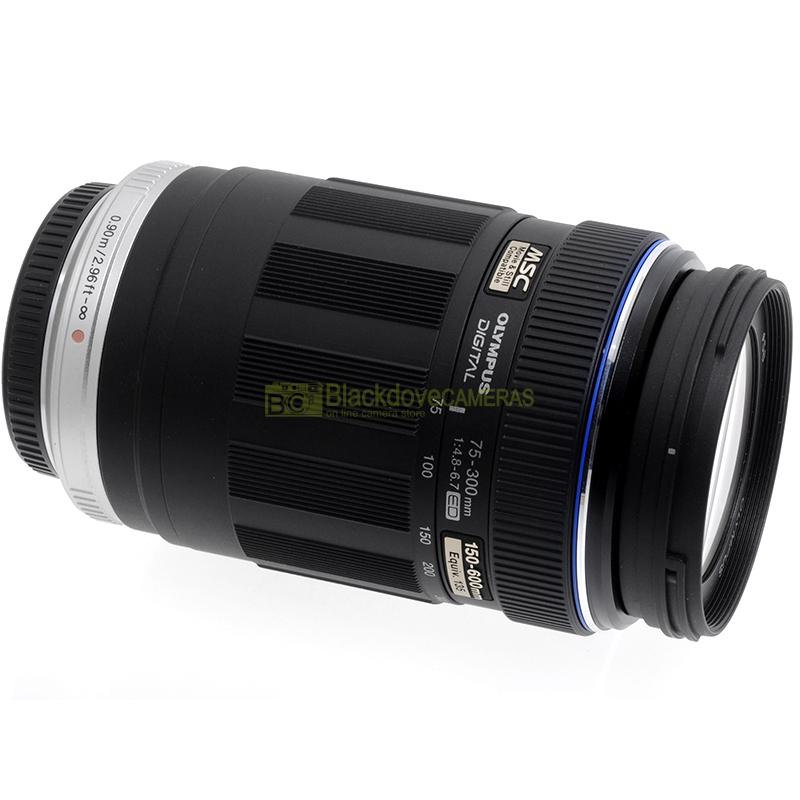 Obiettivo zoom Olympus Zuiko 75/300mm f4,8-6,7 MSC ED digital per micro 4/3 MFT