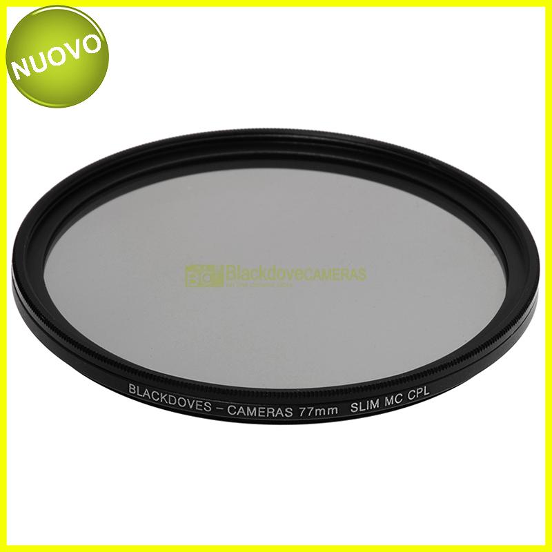 77mm. filtro Polarizzatore circolare MC Slim Blackdove-cameras. Multi Coated.