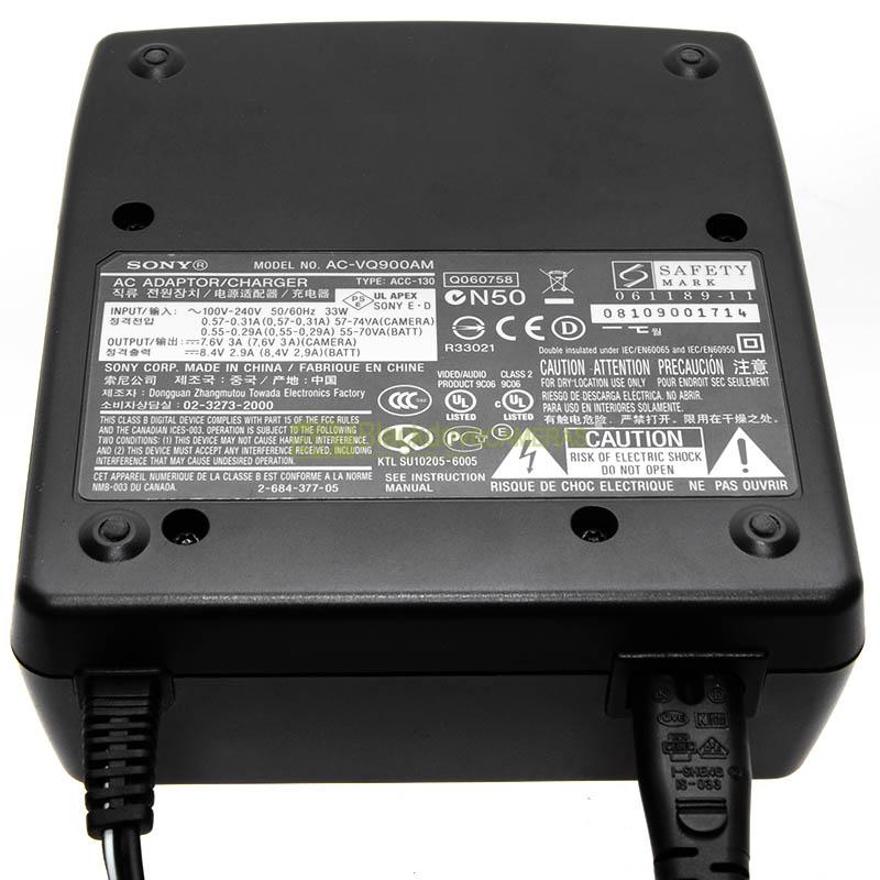 Alimentatore/Caricabatterie Sony AC-VQ900AM per batterie fotocamere NP-FM500H