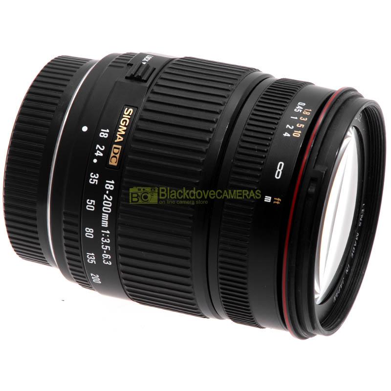 Sigma AF 18/200mm. f3,5-6,3 DC