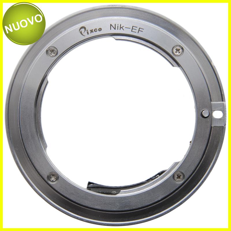 Adapter per obiettivi Nikon su fotocamere Canon EOS. Anello Adattatore EF-N