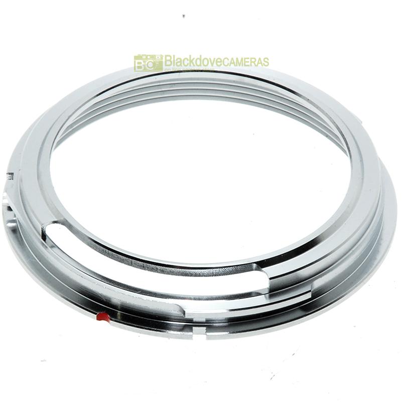 Anello adapter per obiettivi a vite M42 su fotocamere Contax/Yashica. Adattatore