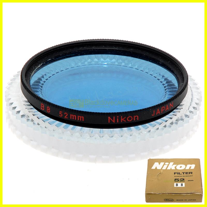 52mm. Filtro blu B8 Nikon Nippon Kogaku Nikkor a vite M52