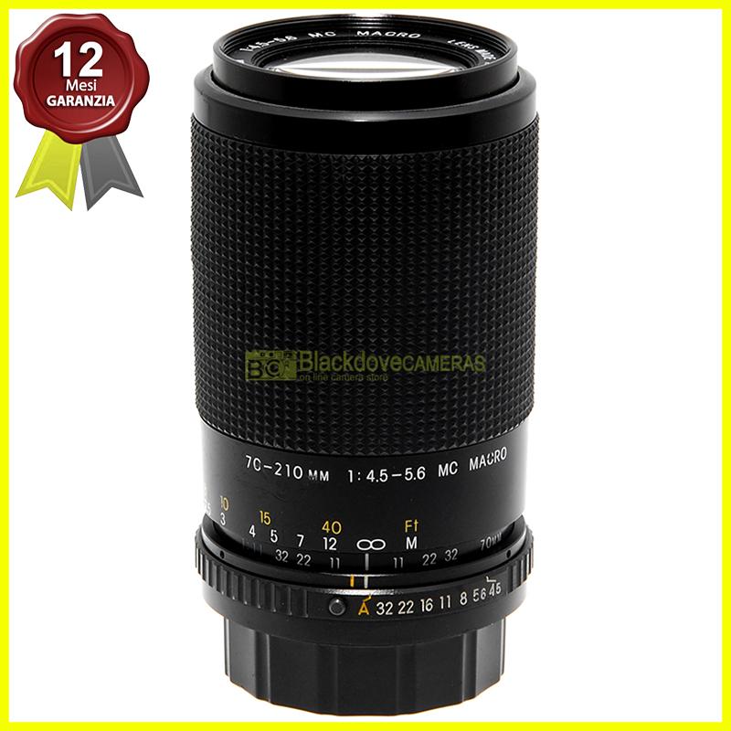 Exakta MC 70/210mm f4,5-5,6 Macro obiettivo zoom per fotocamere reflex Pentax KA