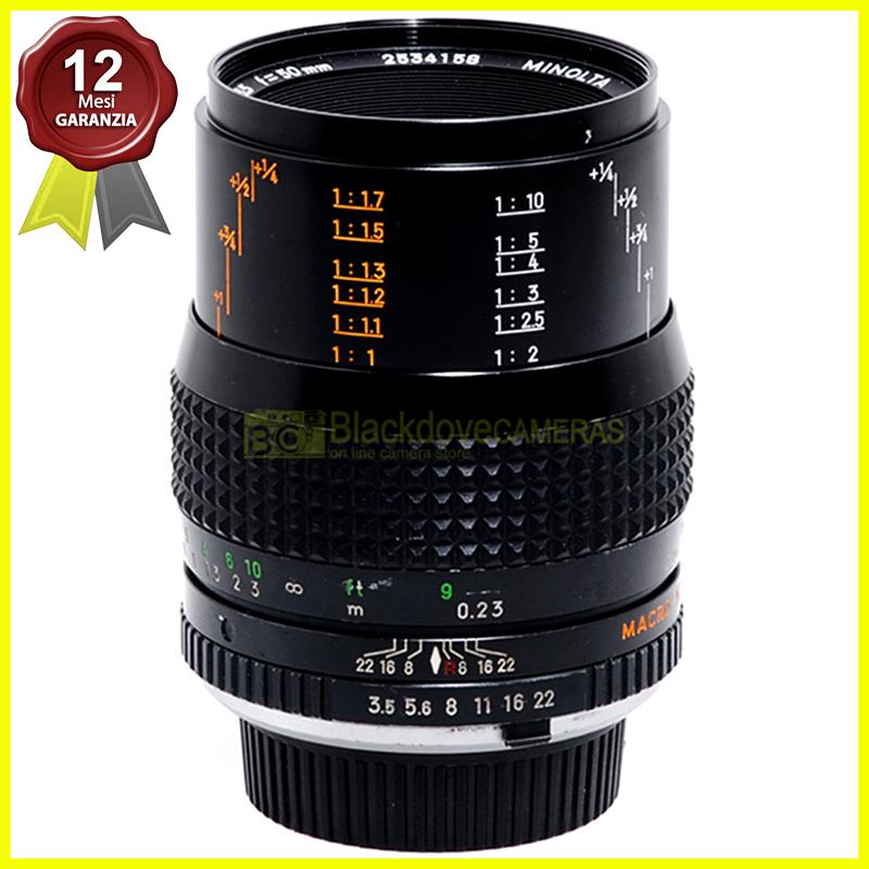 Minolta MC MAcro Rokkor obiettivo 50mm f3,5 per fotocamere reflex a pellicola