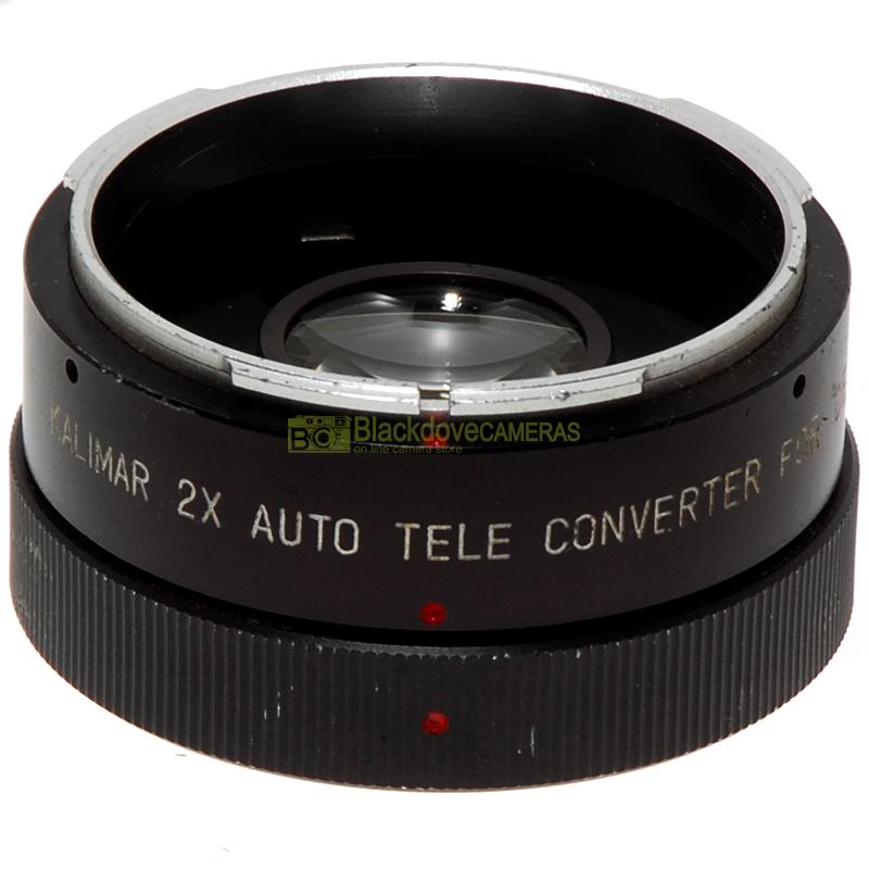 Moltiplicatore di focale 2x Kalimar Tele converter per fotocamere reflex manuali