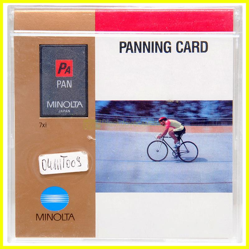 Scheda di programma PANNING CARD per fotocamere analogiche Minolta Dynax-Maxxum
