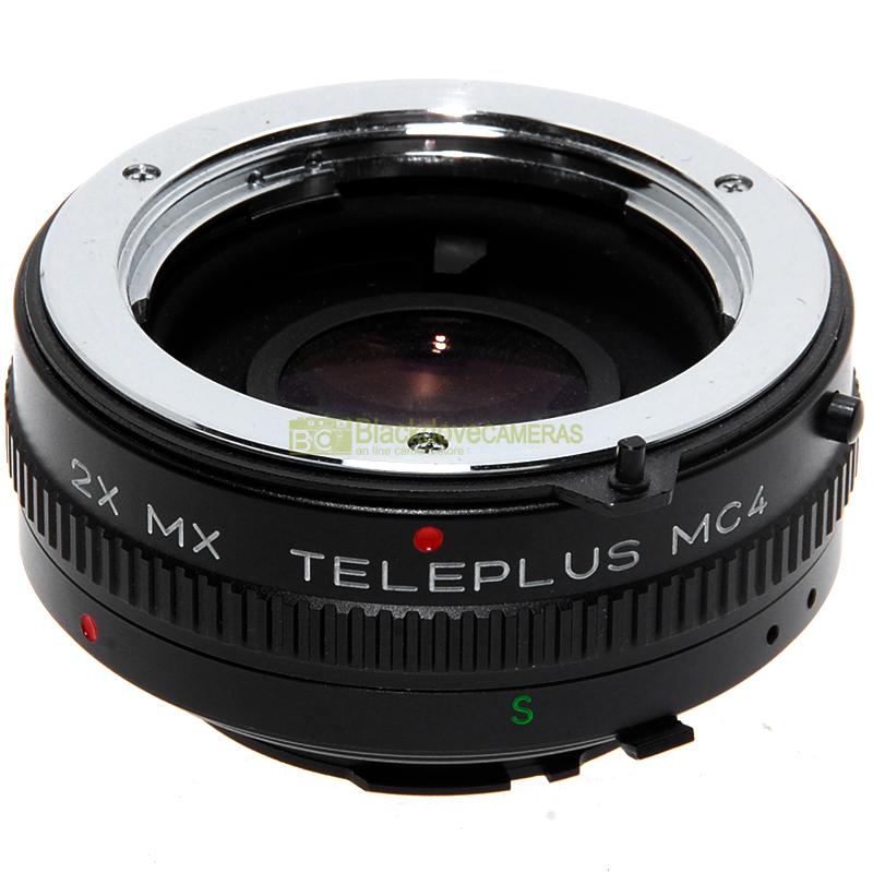 Moltiplicatore focale Kenko Teleplus MC4 2x per Minolta MD e MC. Duplicatore.