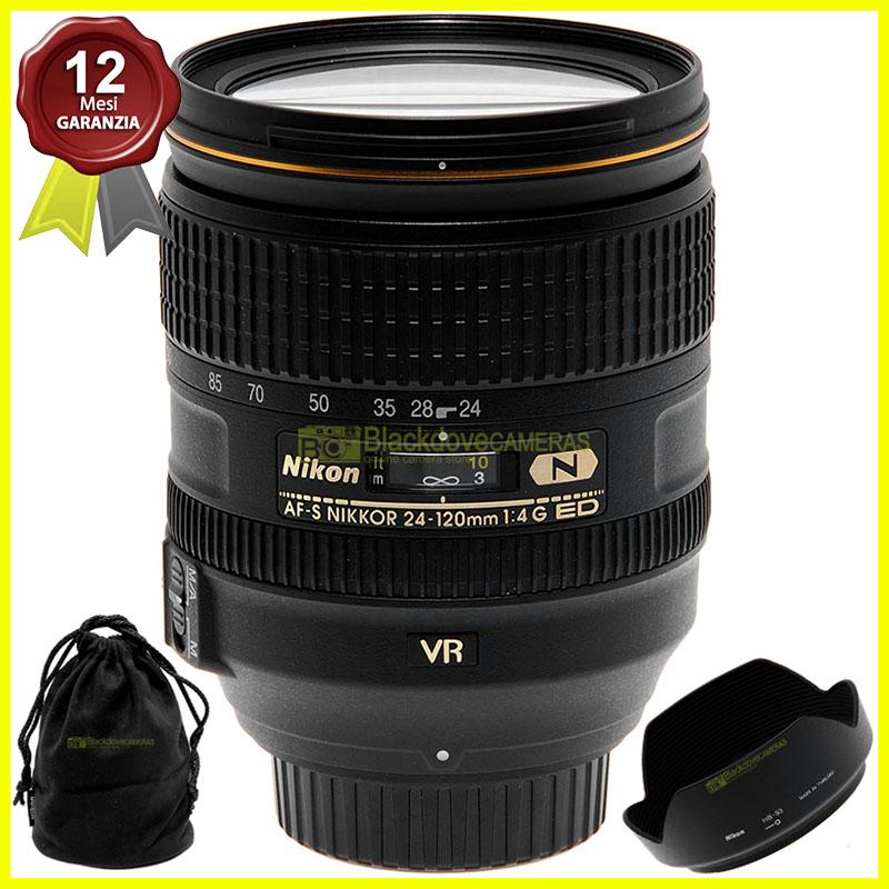 Obiettivo Nikon AF-S Nikkor 24/120mm f4 G ED N VR full frame per fotocamere