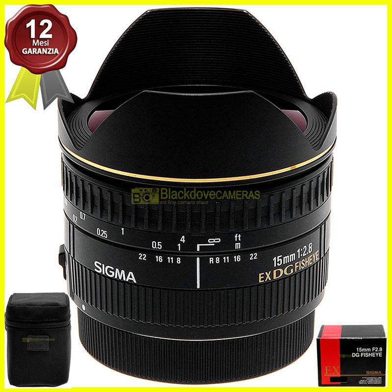 Sigma AF 15mm. f2,8 Fisheye EX DG per fotocamere digitali reflex EOS EF usato.