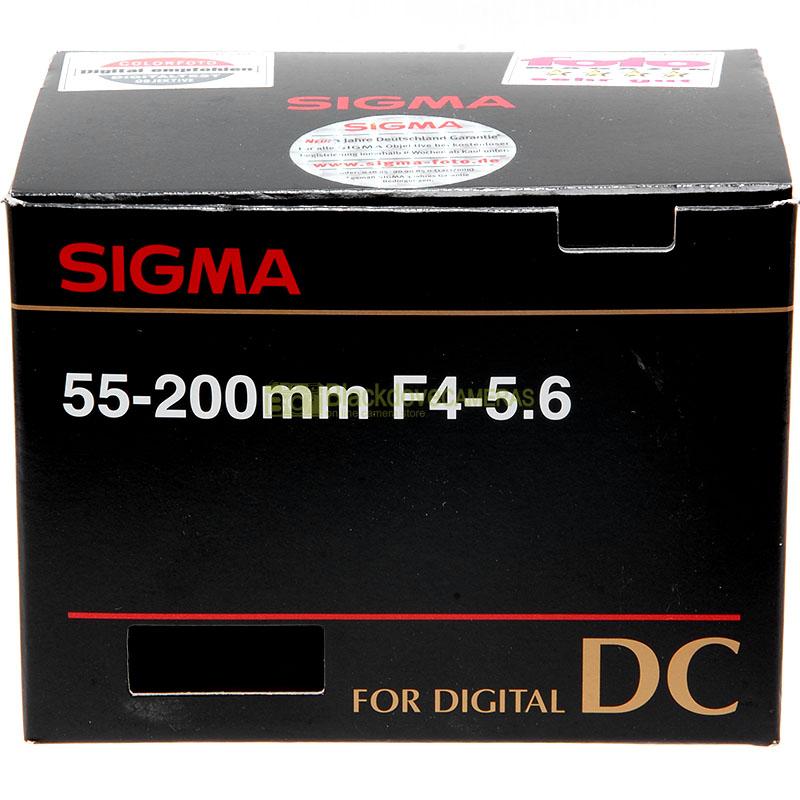 Sigma AF 55/200mm f4-5,6 DC front