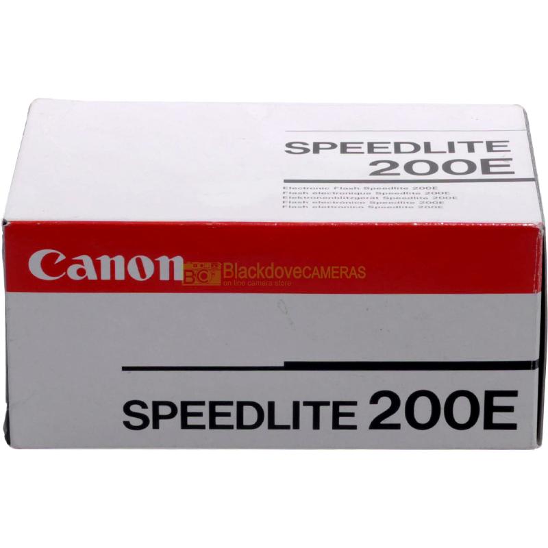 Flash Canon Speedlite 200E TTL per fotocamere a pellicola. Manuale su digitali