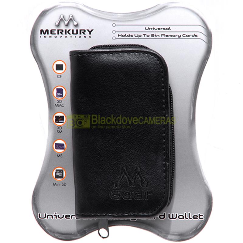Mercury MI-MW Universal Memory Card Wallet. Custodia per 6 schede di memoria.