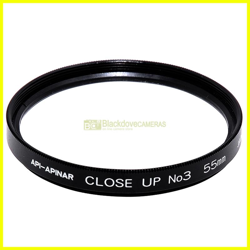 55mm. aggiuntivo macro No3 Api Apinar per obiettivi a vite M55 Closeup lens.
