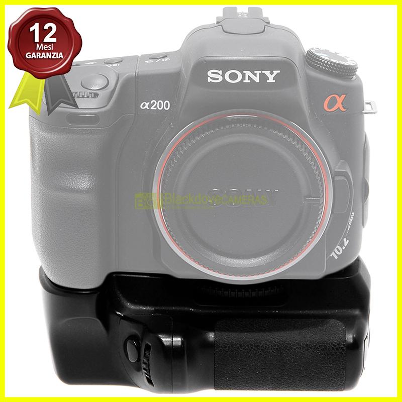 Impugnatura verticale per fotocamere digitali Sony Alpha A200. Grip compatibile.