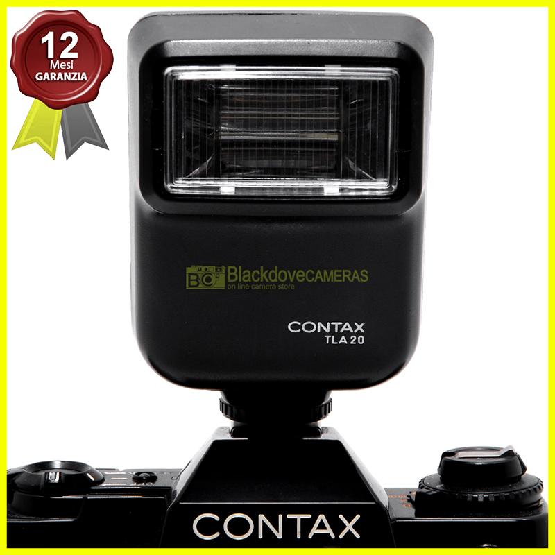 Flash Contax TLA 20 con custodia originale. TTL per fotocamere a pellicola