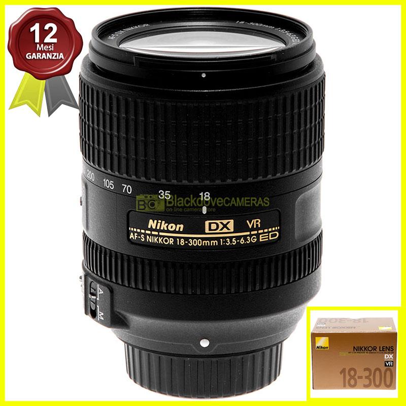 Obiettivo Nikon 18/300mm. f3.5-6.3 G ED VR DX per fotocamere digitali Nikon