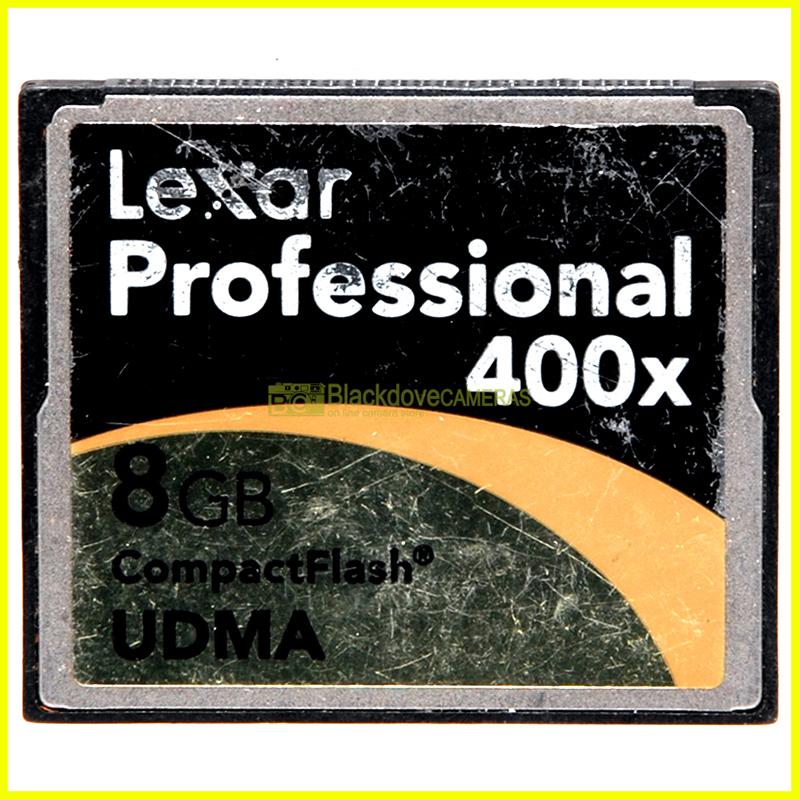 Scheda di memoria compact flash Lexar Professional UDMA 8Gb 400x. Memory Card CF