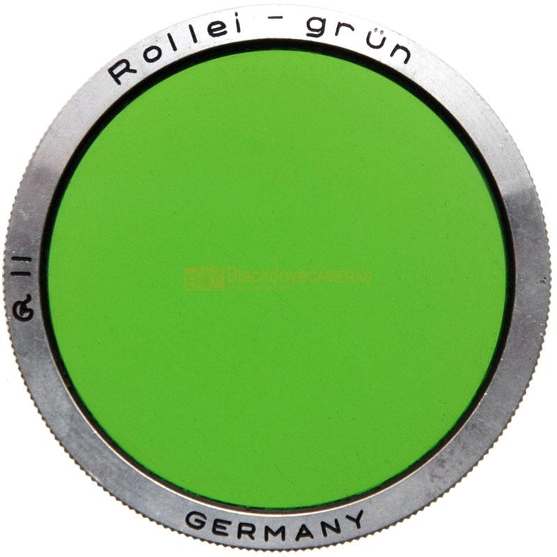 Filtro verde Rollei Grun R2 per biottica. Genuine Rolleiflex green filter bay II
