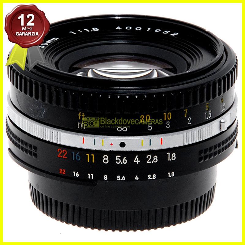 Obiettivo Nikon AI-S 50mm. f1,8 E per fotocamere a pellicola e digitali