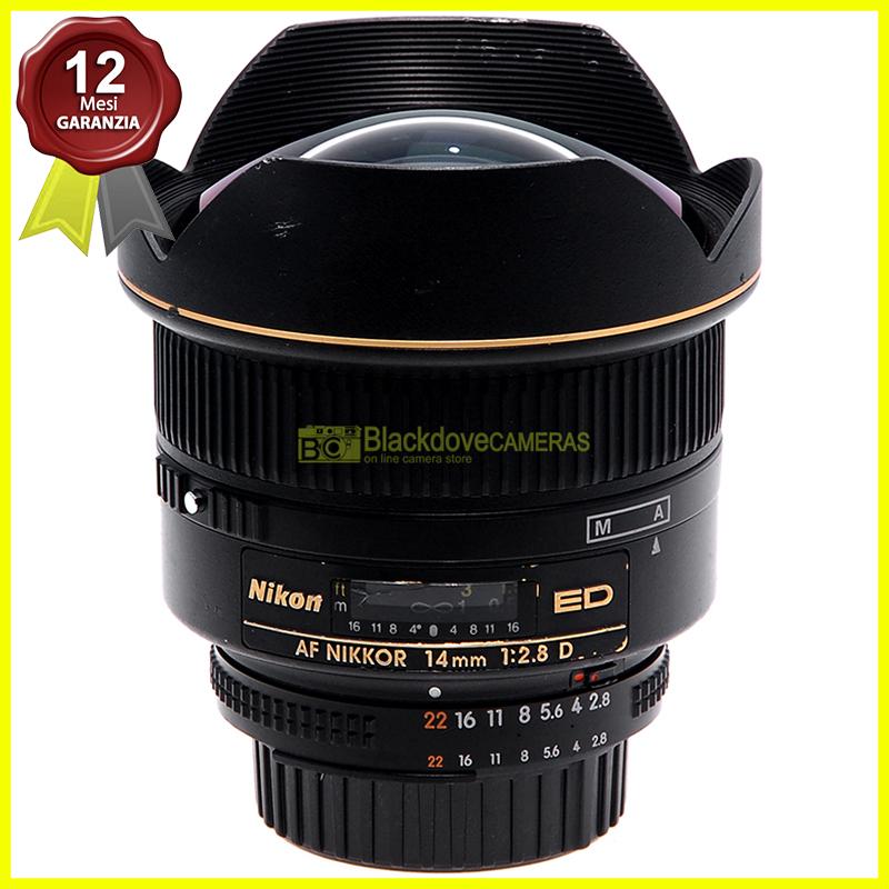 Nikon AF-D Nikkor 14mm f2,8 ED obiettivo grandangolare Full Frame per reflex