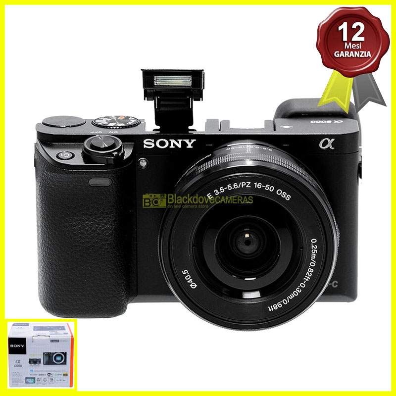 Sony Alpha A6000 Fotocamera mirrorless 24,3Mp con obiettivo 16/50mm f3,5-5,6 OSS